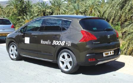 de près à l'occasion d'essais dynamiques organisés par Peugeot Algérie.
